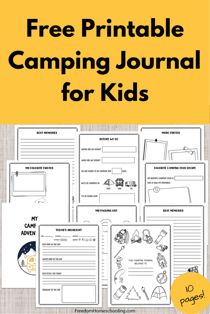 Free Printable Camping Journal for Kids