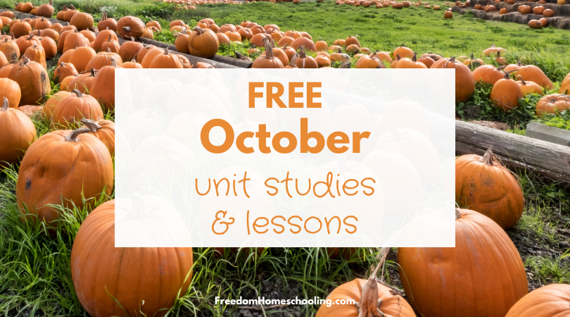 Free October Unit Studies and Lessons